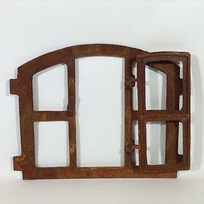 701a Antik Stallfenster Gussfenster Scheunenfenster Wand Gitter Natursteinmauer
