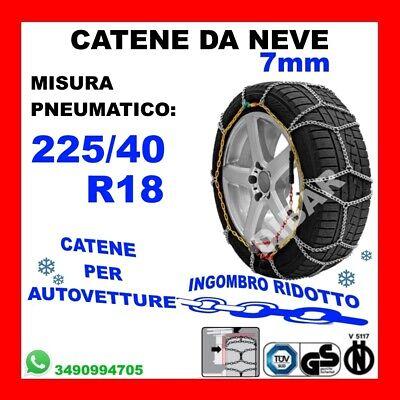 Catene neve 7mm per Alfa Romeo Giulietta Pneumatico 225//40R18