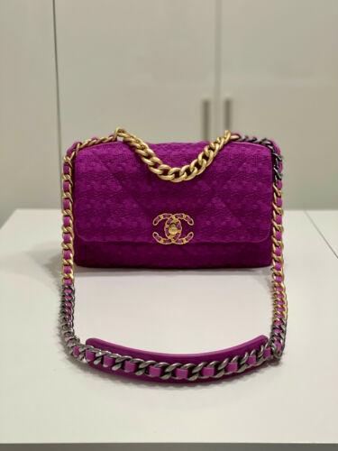 Chanel 19 Tweed Pink Handbag