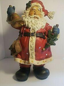 12 Inch Tall Resin Jolly Old World Santa Figurine