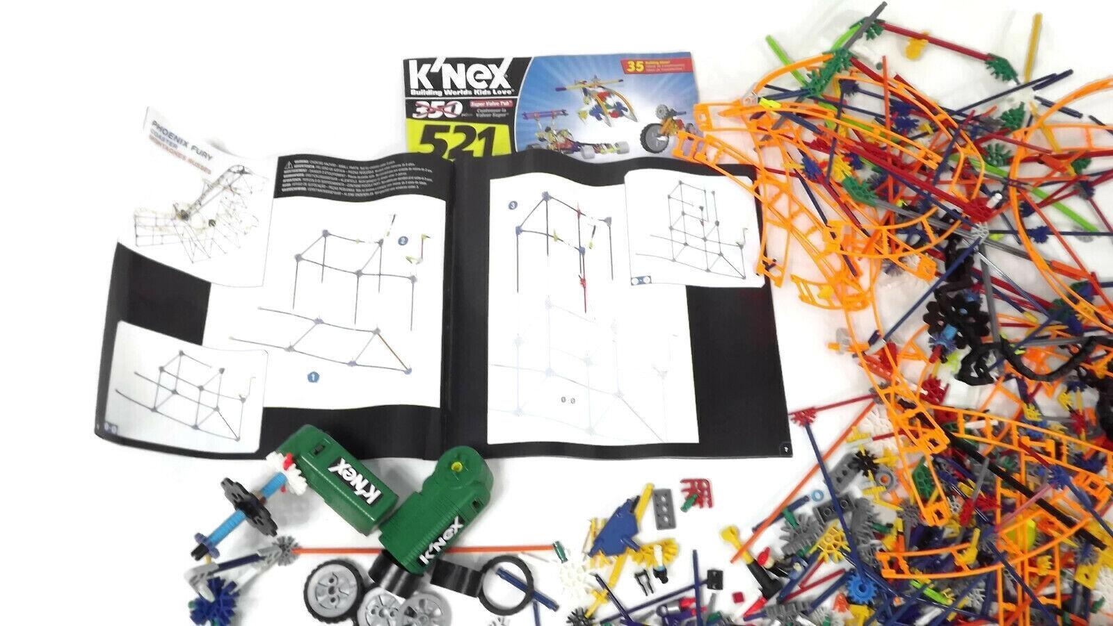 LARGE LARGE LARGE  Mixed LOT K'nex Building Pieces w  3 Bonus Instruction Booklets For Ideas f1d663