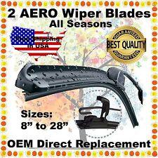 """AERO 22"""" + 22"""" PREMIUM QUALITY SUMMER WINTER BRACKETLESS WINDSHIELD WIPER BLADES"""