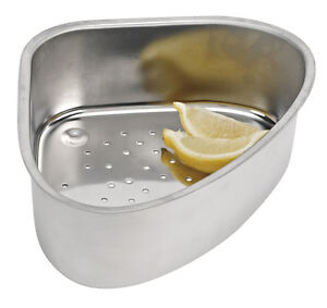 ... -Steel-Sink-Corner-Strainer-Collect-Cutting-Scraps-in-your-Sink-New