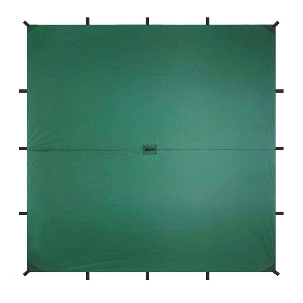 Aqua Quest Guide Sil Tarp Waterproof Ultra Light Lipstop Nylon 3x3m Green Olive