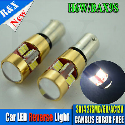 2x 8 SMD LED 433 434 BAX9S H6W OFFSET PINS CANBUS NO ERROR FREE SIDE LIGHT BULBS