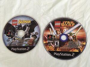 LEGO Star Wars: The Video Game + Lego Batman Sony PlayStation 2, PS2 ⚡️Lot Of 2