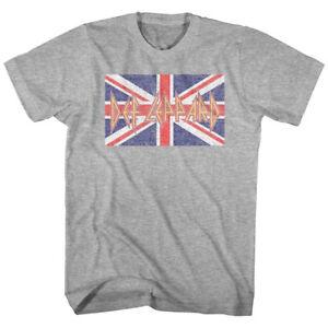 OFFICIAL-Def-Leppard-Union-Jack-Flag-Men-039-s-T-Shirt-Rock-Band-Tour-Merch