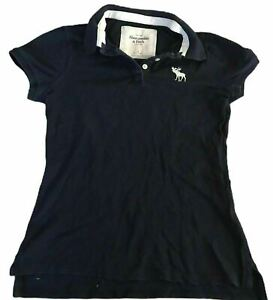 Abercrombie-amp-Fitch-Women-039-s-Polo-T-Shirt-Blue-S-S-Small-Cotton-Blend