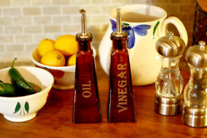 Laser Engraved Oil and Vinegar Sets Gifts for Mom 178ml Amber Cruets