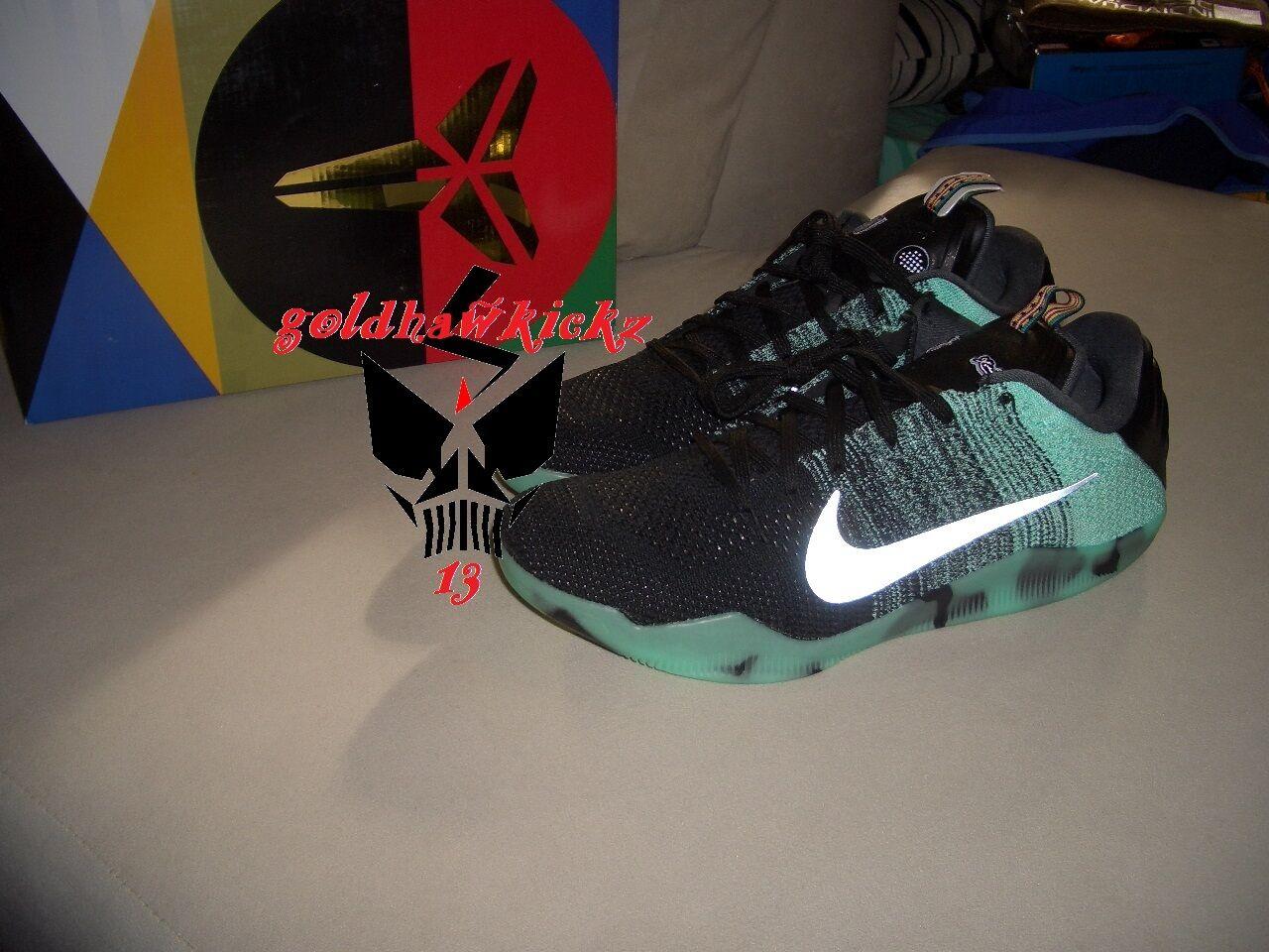 Nike kobe xi 11 elite bassa come all star game bagliore verde 822521-305 gitd toronto
