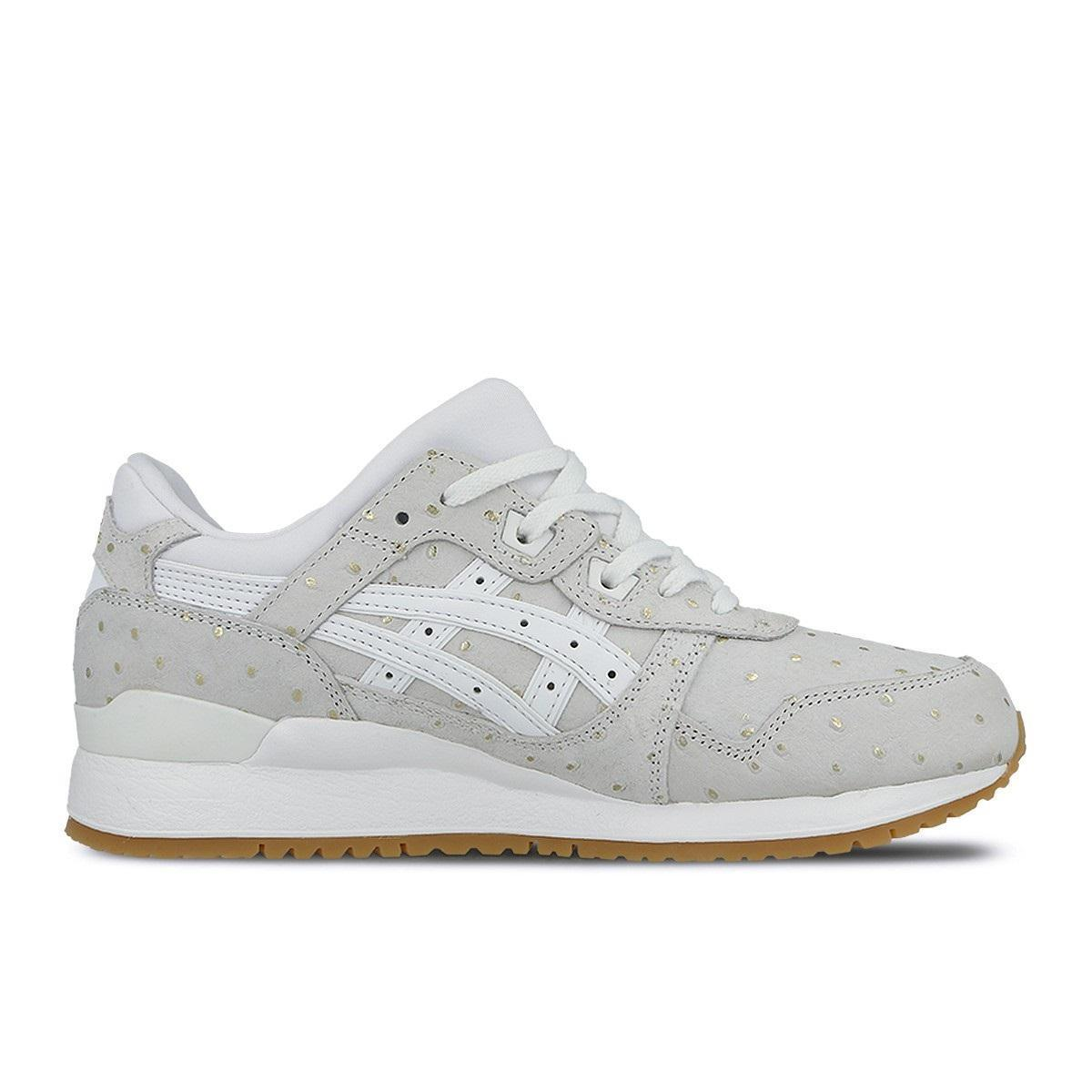 Womens ASICS GEL LYTE III White Trainers H7F8L 0101 Wild casual shoes