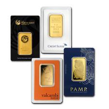1 oz Gold Bar - Brand Name (Random, In Assay Card) .9999 Fine Gold