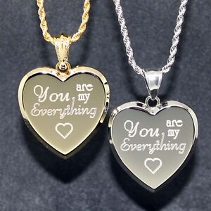 quot you are my everything quot necklace with free engraving