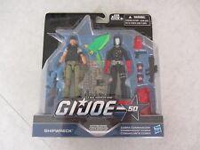 G.I. Joe ~ 50th Anniversary ~ Shipwreck & Cobra Commander Figures ~ 2015 Hasbro