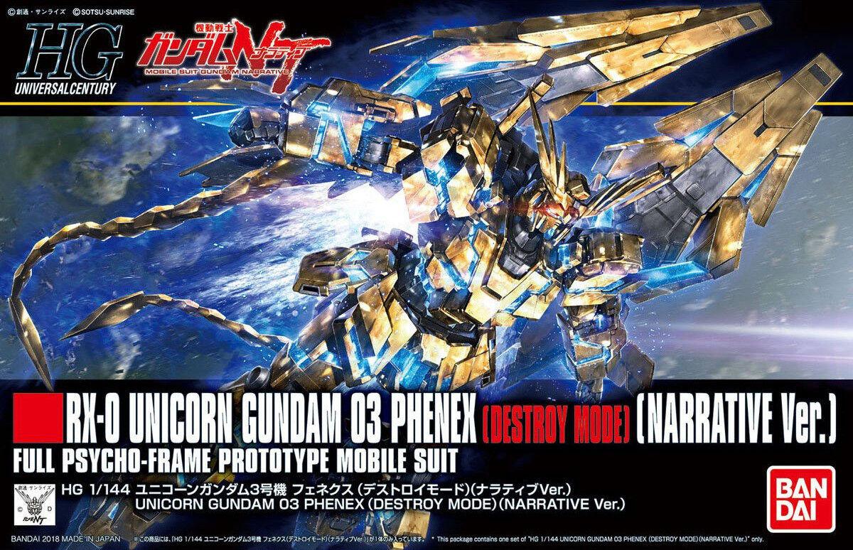 Gundam 1 144 HGUC 213 RX-0 Unicorn Gundam 03 Phenex Destroy Mode (NT. Narrative)