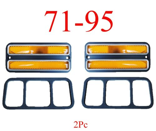 71 95 Chevy Van 2Pc Deluxe Amber Front Side Lights G10 G20 G30 GMC