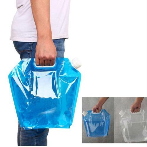 5L Water Storage HOT Bag Folding Survival Kit Camping Portable Lifting Hiking LH