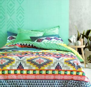 Tribal-Print-Multi-Queen-Bed-Quilt-Cover-Multi-Colour