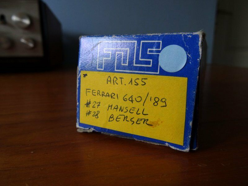 F.D.S Ferrari  640 F1 89 1989 F1  Mansell   Berger White Metal kit 1 43