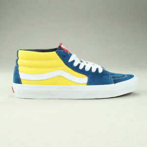edc060f8db Vans Sk8 Mid Shoes Trainers Brand New in Yellow Blue in UK Size 6
