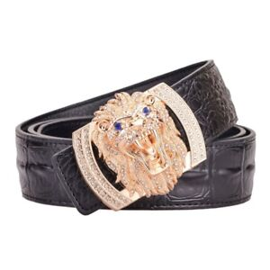 Lion-Face-Buckle-Genuine-Cow-Skin-High-Quality-Leather-Jeans-Belt-Strap-for-Men