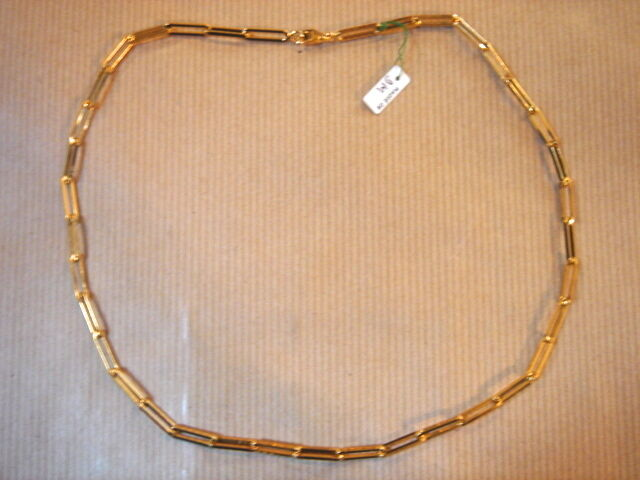 CHAINE PLAQUE OR MAILLE MEDIUM LONG 50 CM 18G VINTAGE NEUF NEW gold PLATED CHAIN