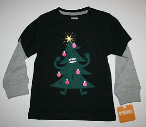 New-Gymboree-Boys-Monster-Christmas-Tree-Top-NWT-18-24m-Holiday-Shop-Tee