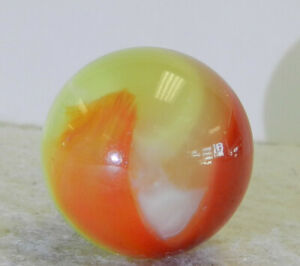 #12435m Vintage Akro Agate Cherryade Corkscrew Shooter Marble .98 Inches