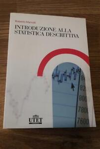 Introduzione Alla Statistica Descrittiva Roberto Marvulli Utet Universita 2008