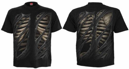 SPIRAL DIRECT BONE RIP T-Shirt,Tattoo//Rock//Metal//Skeleton//Tribal//SM L XL XXL//Top