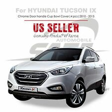 Chrome Door Catch Handle Cup Bowl Cover Tape On for Hyundai Tucson ix 10-15 NEW