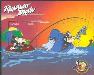 Uganda-Disney-Runaway-Brain-Pt-2-Souvenir-Sheet-MNH