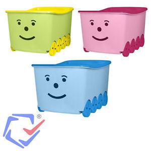 spielzeugkiste spielzeugbox box kasten kiste box 52 l mit r dern und deckel neu ebay. Black Bedroom Furniture Sets. Home Design Ideas