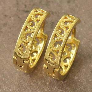 Cute New Yellow Gold Filled Scroll Cutout Design 1/2 ...