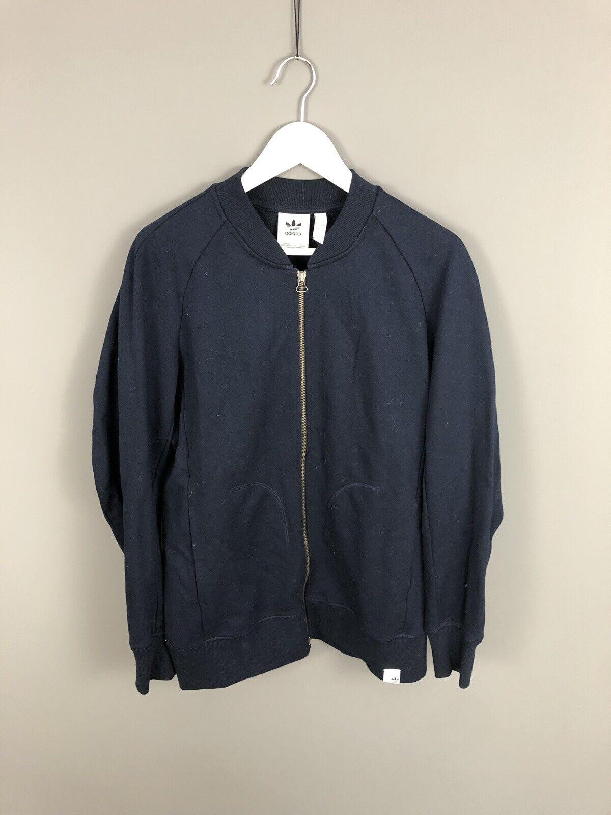 ADIDAS Full Zip Sweatshirt - Medium - Navy - Great Condition - Men's