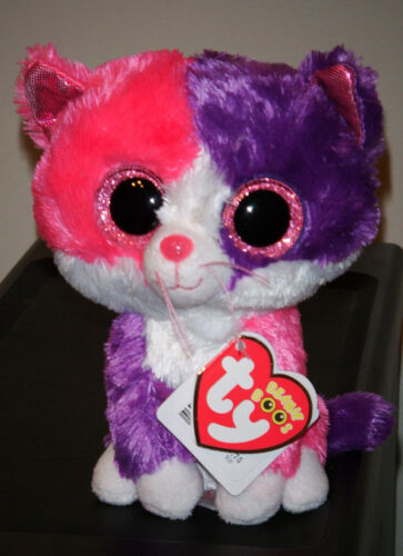 6 Inch NEW MWMT Ty Beanie Boos ~ PELLIE the Cat Claire/'s Exclusive