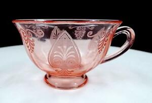 "FOSTORIA #5099 TROJAN PINK #280 FOOTED 2 1/4"" CUP 1929-1934"