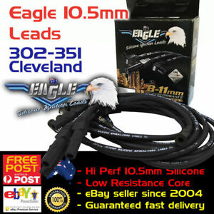 EAGLE-10-5mm-Ignition-Spark-Plug-Leads-Fits-V8-351-Cleveland-HEI-Around-R-Covers