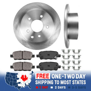Rear-Brake-Disc-Rotors-And-Ceramic-Pads-For-Nissan-Altima-Juke-Maxima-Sentra