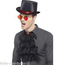 Men's Dracula principessa delle tenebre Fancy Dress Top Hat Bicchieri da collo, con arricciatura