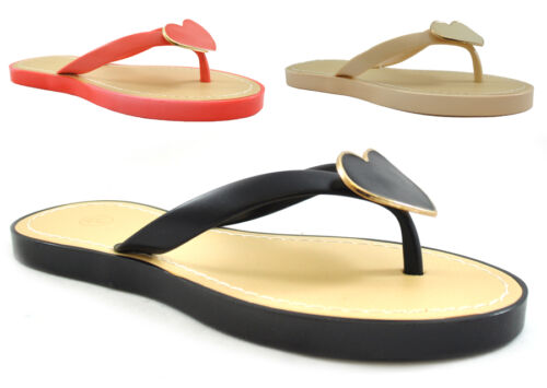 Ladies Womens Flat Jelly Open Toe Post Jellies Flip Flops Slippers Sandals Size