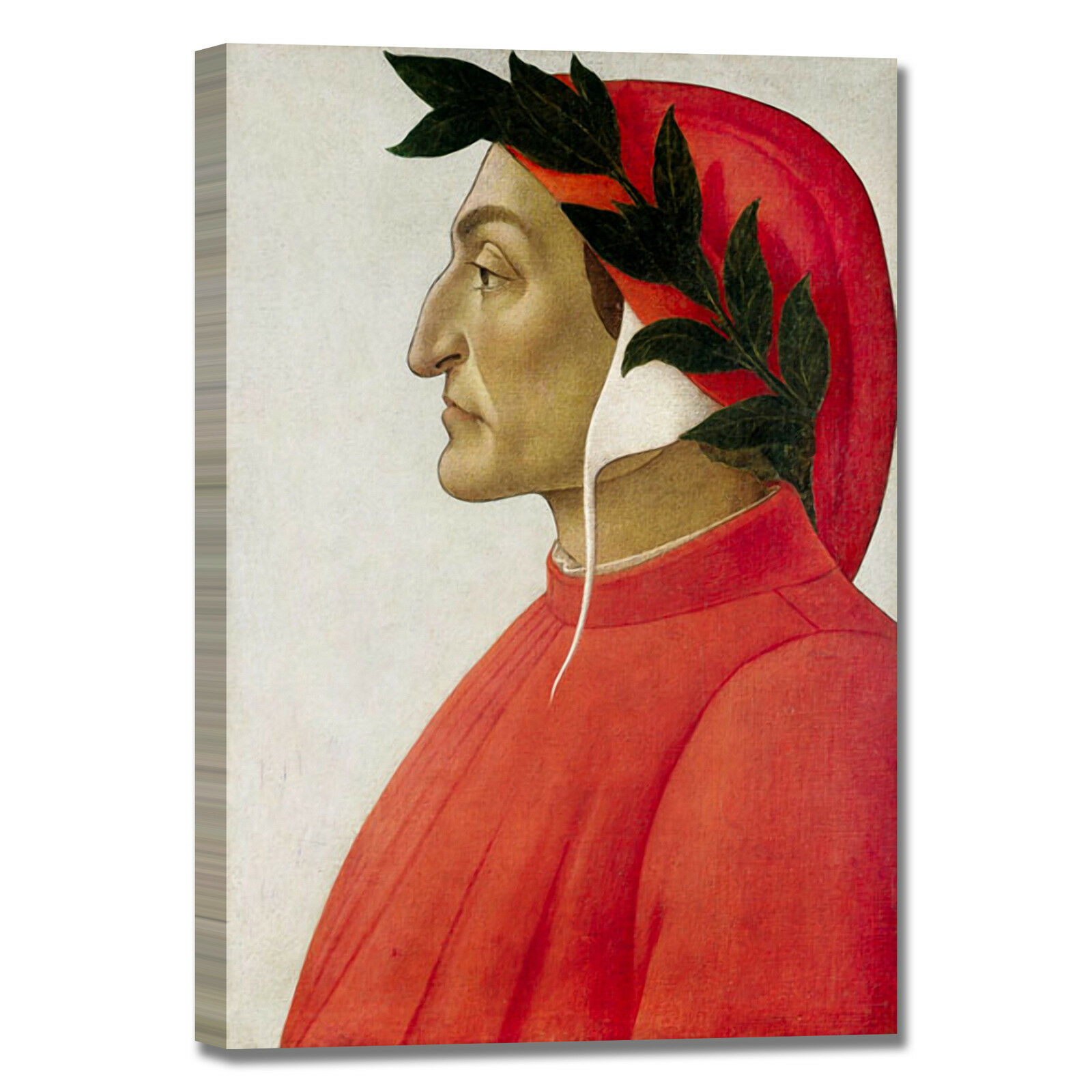 Botticelli ritratto di Dante quadro stampa tela dipinto telaio arroto casa