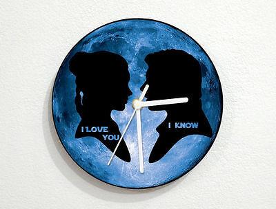 I Love You, I Know - Star Wars - Blue Moon - Wall Clock