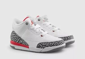 compañera de clases Dólar Un evento  Air Jordan 3 Retro 'Katrina' BP Kids 429487-116 White UK 1.5 EU 33.5 US 2Y  New | eBay