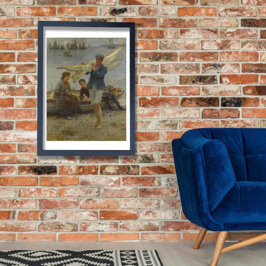 Henry Scott Tuke - Return from fishing (1907) Wall Art Poster Print