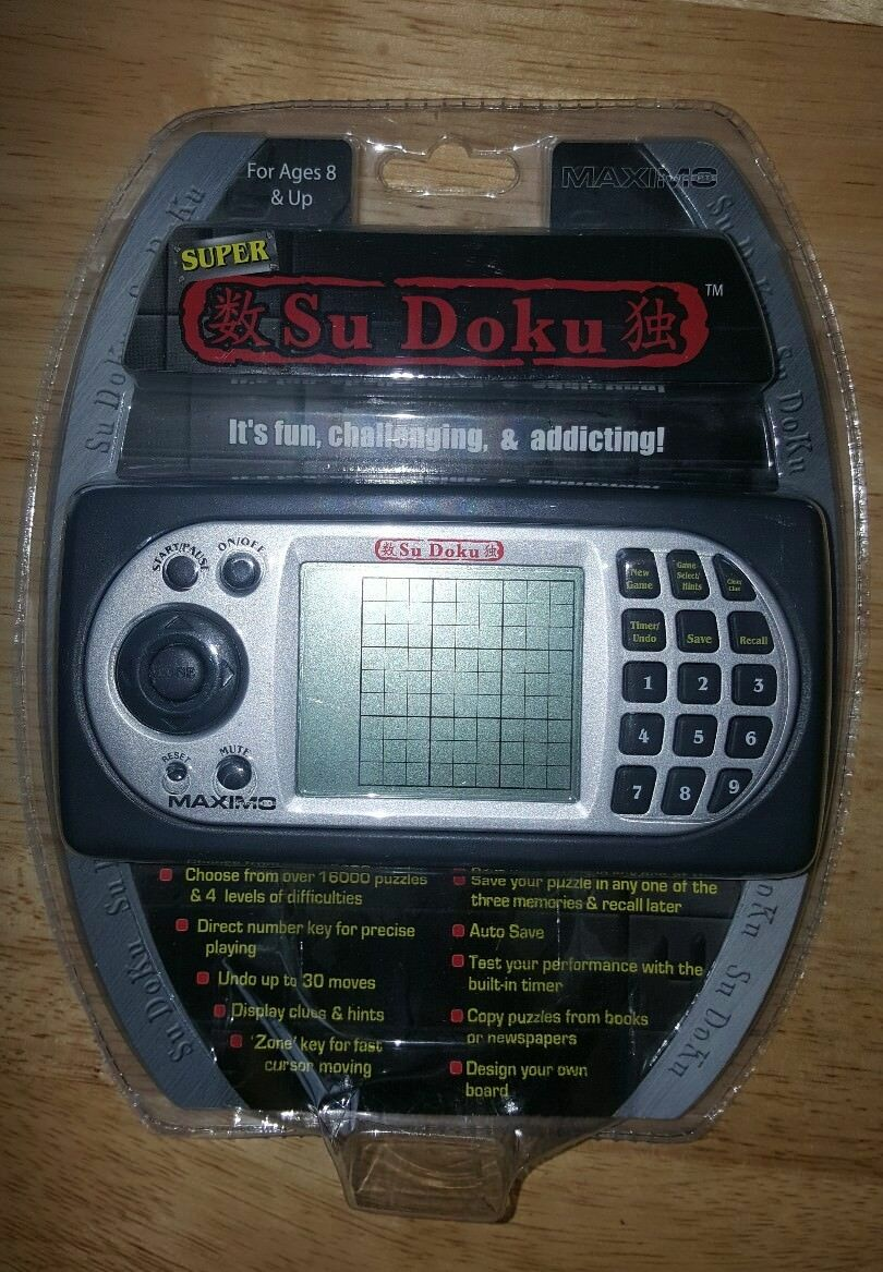 RARE Super SuDoku Sdk-120Cl by Maximo Concepts  Handheld Game FREE SHIPPING