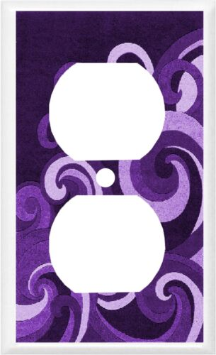 Swirl Wave  Purple Shades Home Decor ~ Light Switch Cover Plate