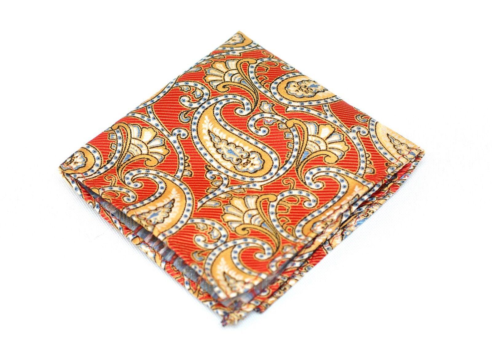 Lord R Colton Masterworks Pocket Square - Cafayate Red Silk - Retail New