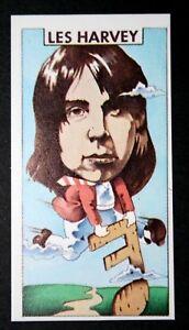 Leslie Harvey  Scottish Blues Guitarist  Original 1970's Illustrated Card   EXC