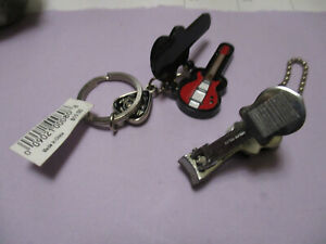 HARD ROCK KEYCHAIN GUITAR IN CASE + NAIL CLIPPER GUITAR Both in this sale
